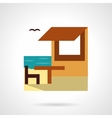 Beach rest flat color design icon vector image vector image