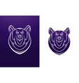 Bear logo template Animal head symbol vector image