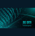 big data visualization banner realistic style vector image
