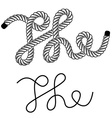black rope the vintage symbol vector image vector image