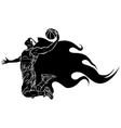 black silhouette digital painting vector image vector image