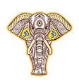 boho black elephant elephant vector image vector image
