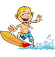 boy on the surfboard vector image vector image