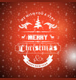 chrischristmas greetings card with red background vector image vector image