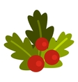 Christmas berries icon flat style vector image vector image