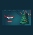 christmas webpage merry xmas landing page vector image vector image
