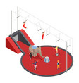 circus manege isometric composition vector image vector image