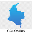 colombia map in south america continent design vector image vector image