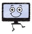computer display kawaii character vector image vector image