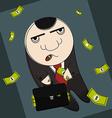 Corrupt politician vector image vector image