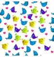 cute colorful bird vector image vector image