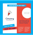 decorations company brochure template busienss vector image