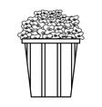 delicious pop corn icon vector image
