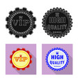 design emblem and badge sign collection vector image vector image
