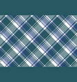 diagonal fabric texture plaid seamless pattern vector image vector image