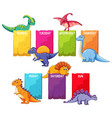 dino on schedule template vector image vector image