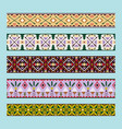 ethnic pattern colorful ribbons vector image