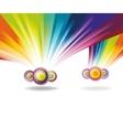 falling rainbows vector image vector image