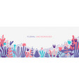 flat nature background with copy space vector image vector image