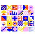 geometric minimalistic background vector image vector image
