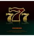 Golden 777 background vector image vector image