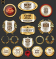 golden badges and labels collection vector image vector image
