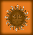 golden sun vector image vector image