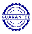 grunge blue guarantee word round rubber seal vector image vector image