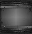grunge metal vector image