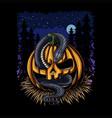 halloween pumpkin snake vector image vector image