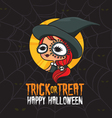 Halloween Trick or Treat Witch Costume vector image vector image