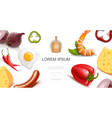 healthy food colorful template vector image vector image