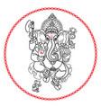 hindu god ganesha hand drawn tribal style vector image vector image