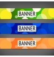Horizontal web banners vector image vector image