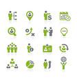 human resources icons natura series vector image vector image