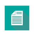 icon document flat style vector image vector image