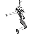 jumping woman vector image vector image