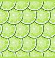 lime slices tile seamless pattern bright green vector image vector image