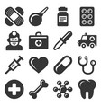 medical icons set on white background vector image vector image