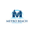 metro beach city logo designs modern vector image
