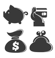 money collection vector image vector image
