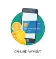 On-line payment vector image