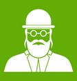 orthodox jew icon green vector image