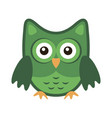 owl stylized icon green colors vector image vector image