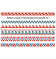 patterns based on khanty-mansi siberian folk vector image vector image