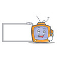 pose with board tv character cartoon object vector image vector image