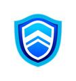 rising up blue modern shield symbol logo design vector image vector image