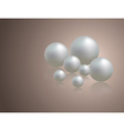 Romantic background with pearls vector image