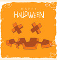 scary pumpkin face for halloween vector image