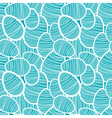 Seamless easter pattern with decorated eggs vector image vector image